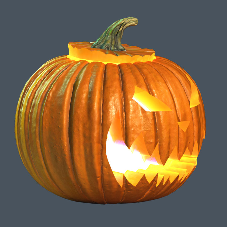 Zucca di Halloween royalty-free 3d model - Preview no. 4