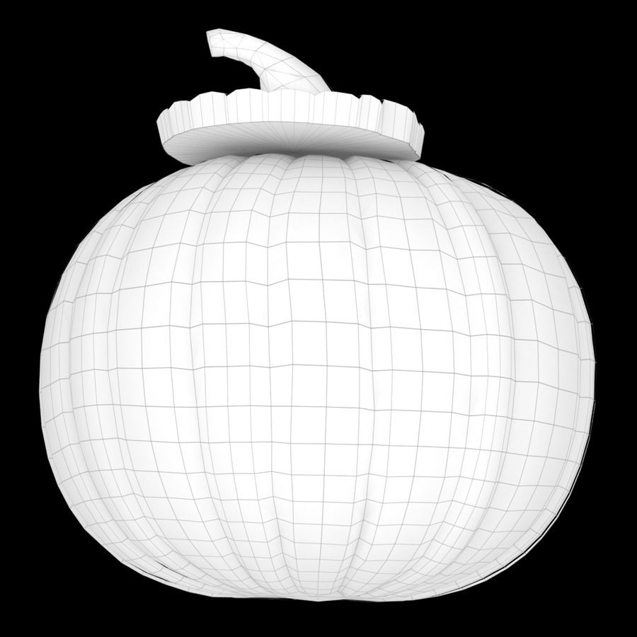 Zucca di Halloween royalty-free 3d model - Preview no. 7
