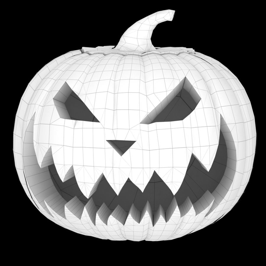 Zucca di Halloween royalty-free 3d model - Preview no. 5