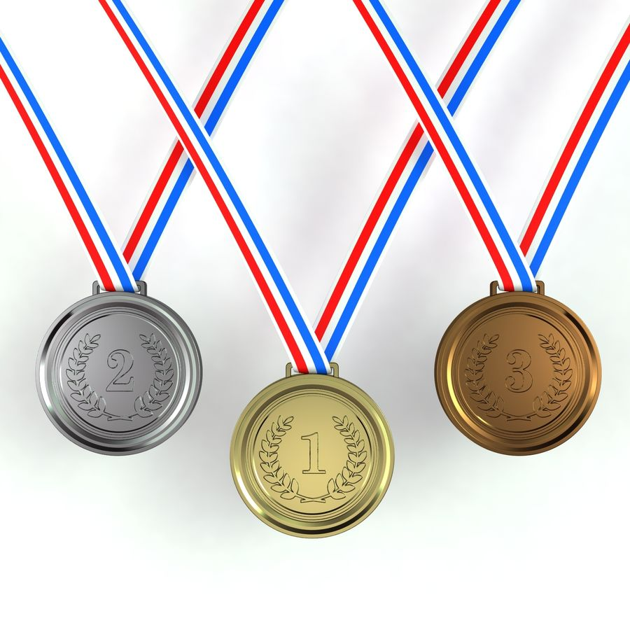 Medals royalty-free 3d model - Preview no. 1