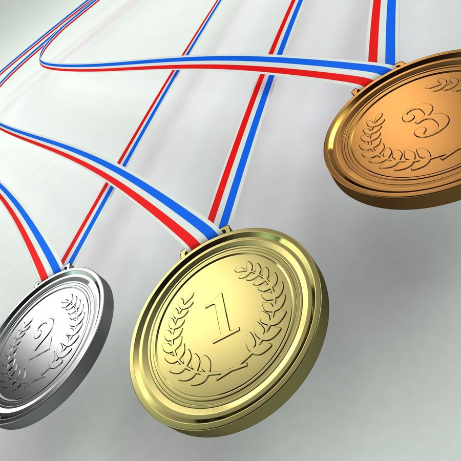 Medals royalty-free 3d model - Preview no. 3