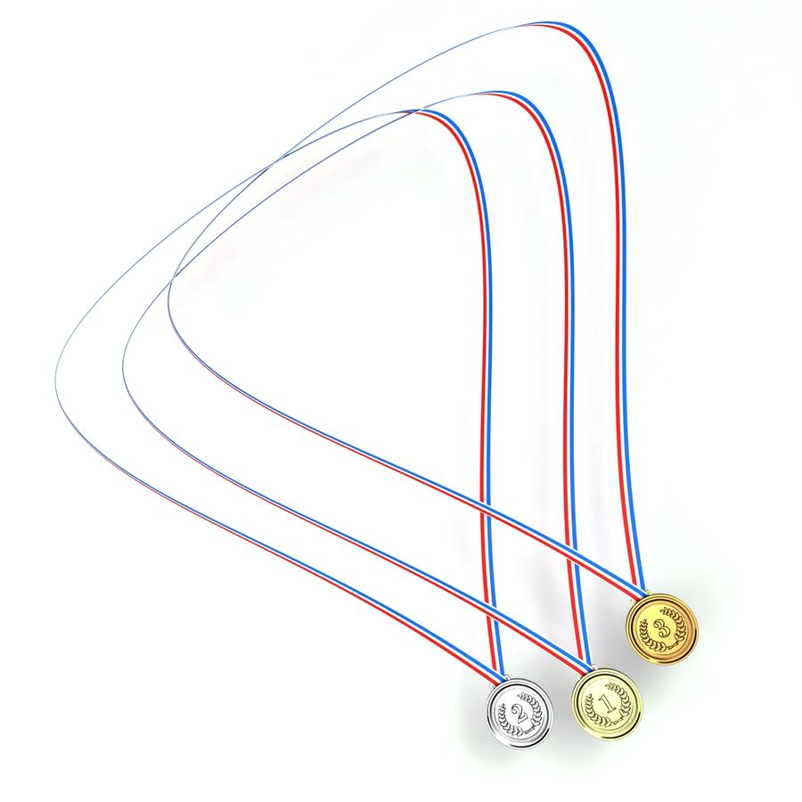 Medals royalty-free 3d model - Preview no. 4