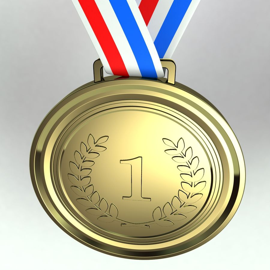 Medals royalty-free 3d model - Preview no. 9