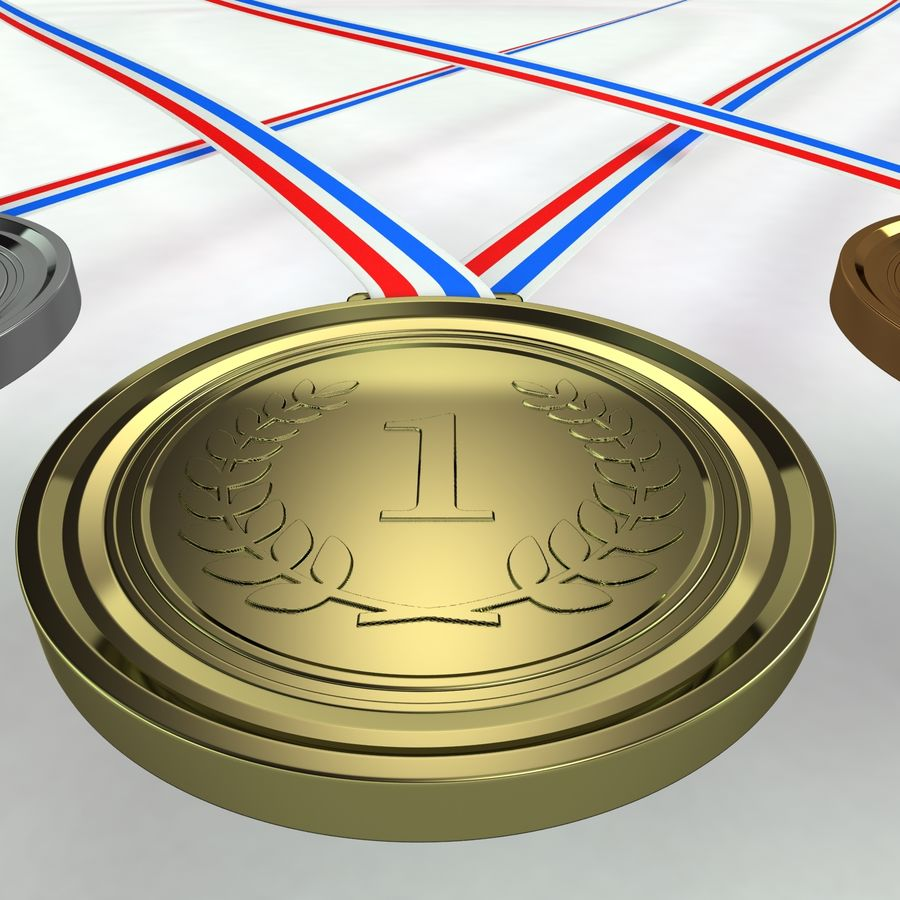 Medals royalty-free 3d model - Preview no. 6