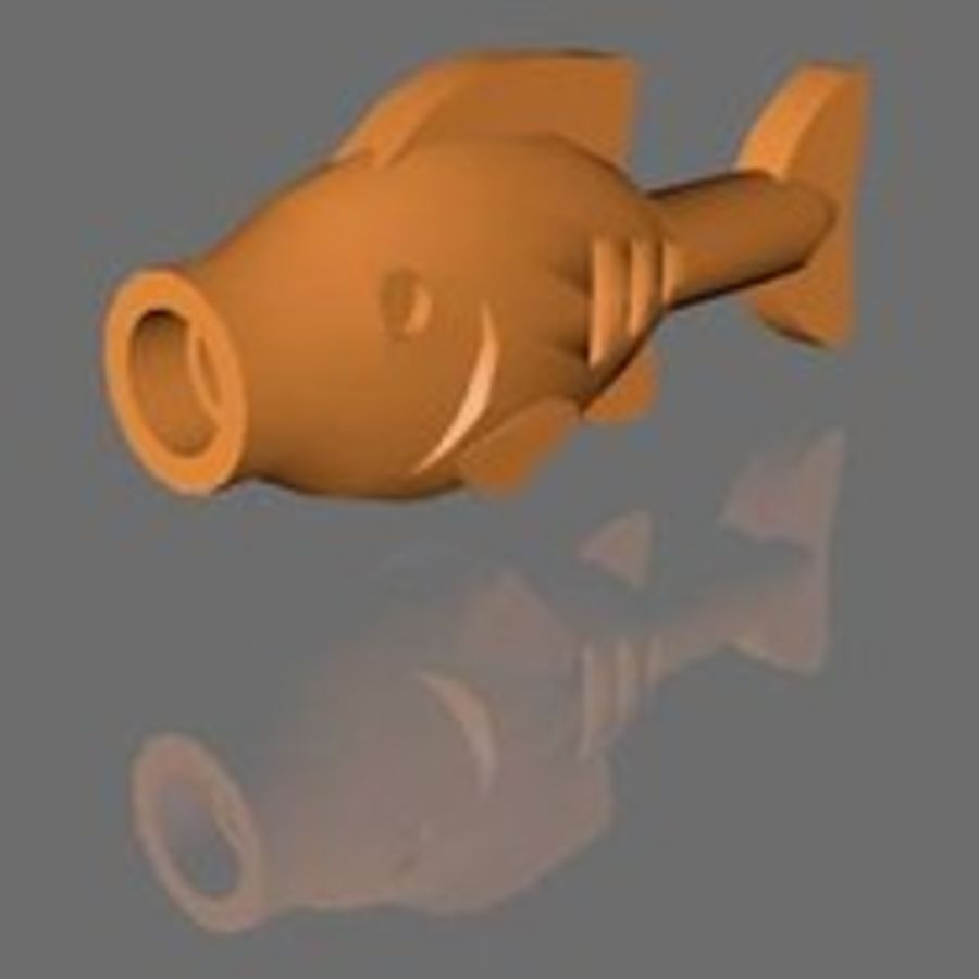 LEGO FISH royalty-free 3d model - Preview no. 1