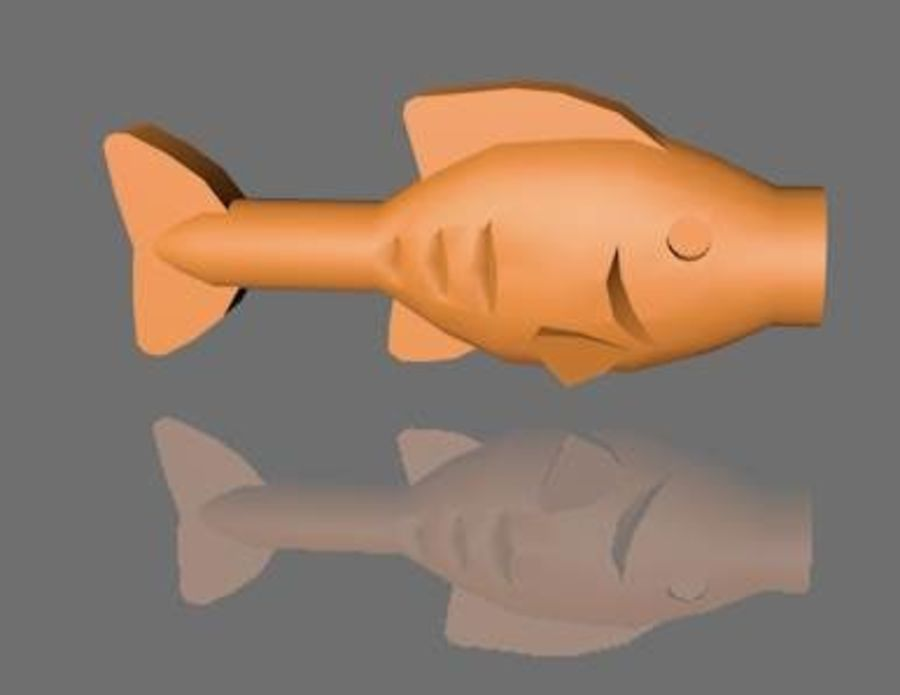 PESCE LEGO royalty-free 3d model - Preview no. 3