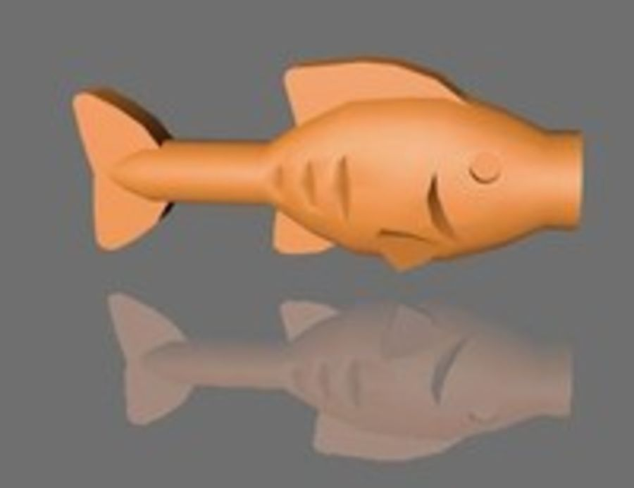 LEGO FISH royalty-free 3d model - Preview no. 3