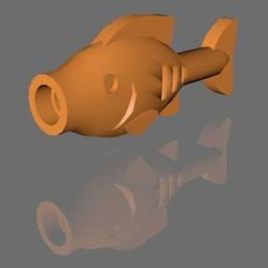 PESCE LEGO royalty-free 3d model - Preview no. 1