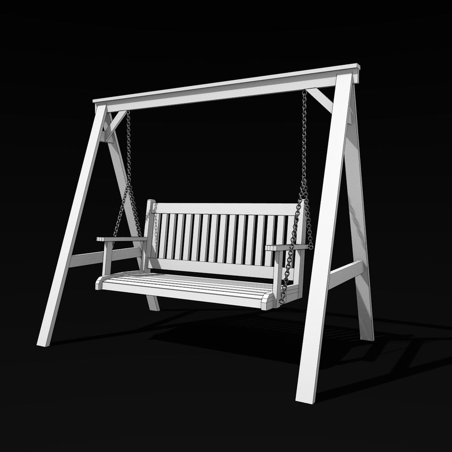 Garden Swing royalty-free 3d model - Preview no. 7