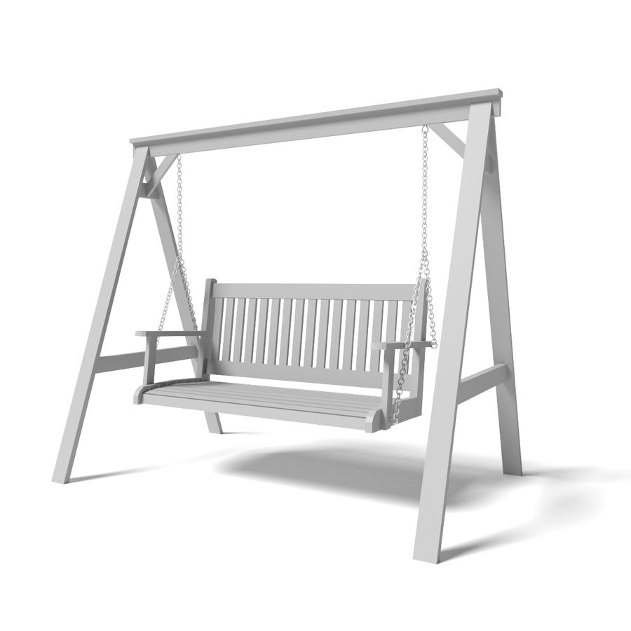 Garden Swing royalty-free 3d model - Preview no. 6
