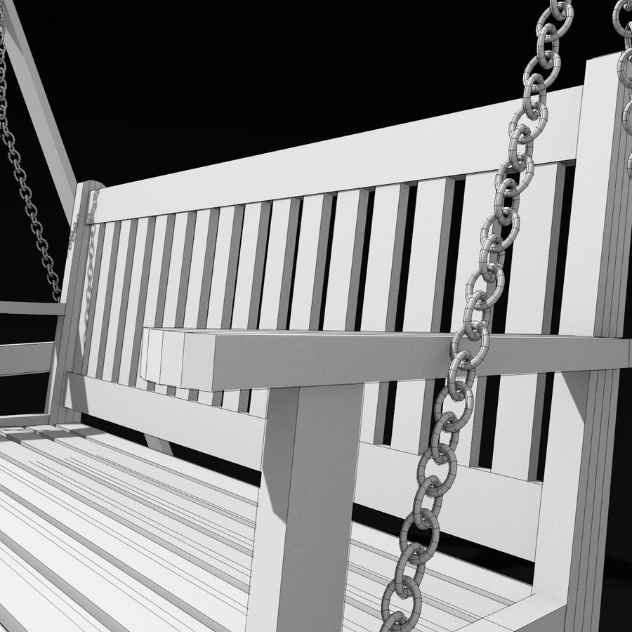 Garden Swing royalty-free 3d model - Preview no. 8