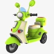 Cartoon Motorized Tricycle 1 3d model