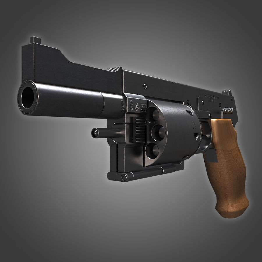 Revolver Mateba MTR-8 royalty-free 3d model - Preview no. 1