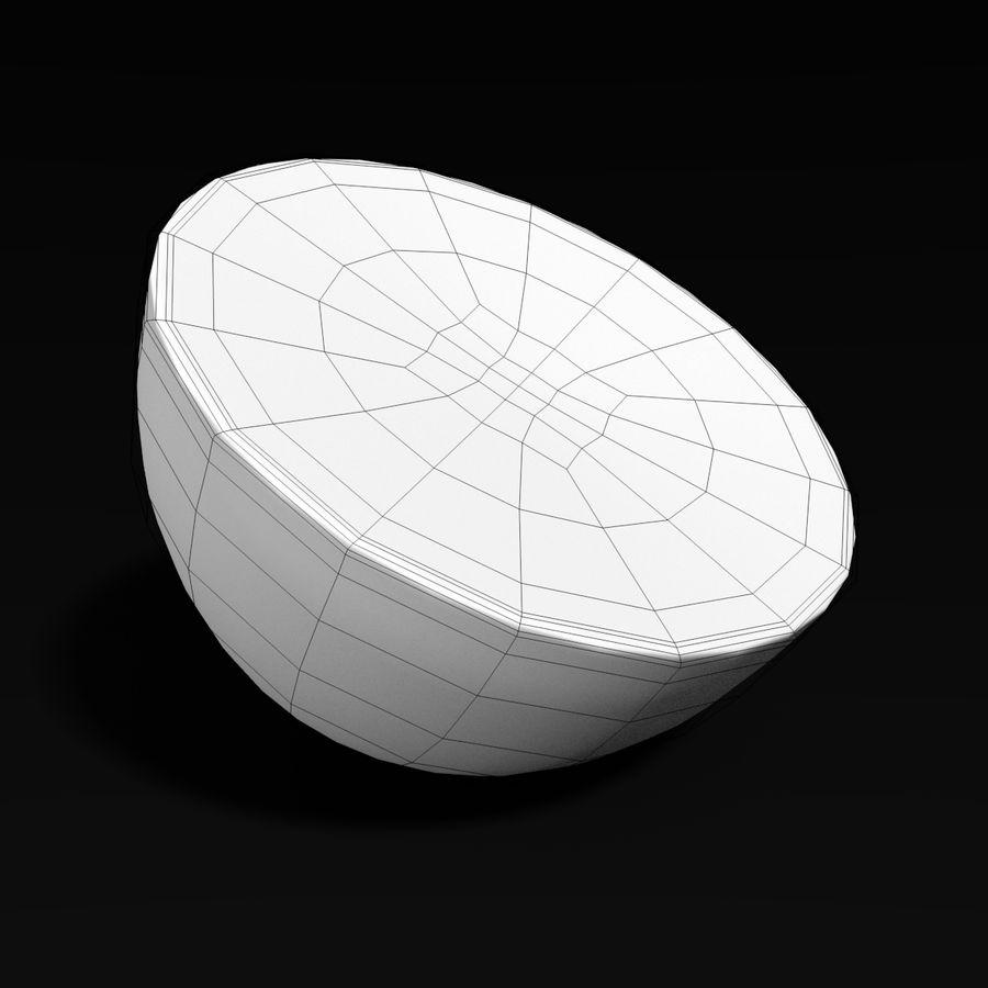 Lemon Half royalty-free 3d model - Preview no. 4