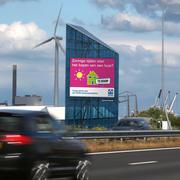 Cartellone pubblicitario segno autostrada Amsterdam A5 3d model