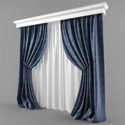 窗帘和百叶窗的现代风格 3d model