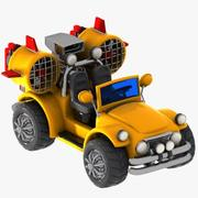 Cartoon-Turbo-Jeep 3d model