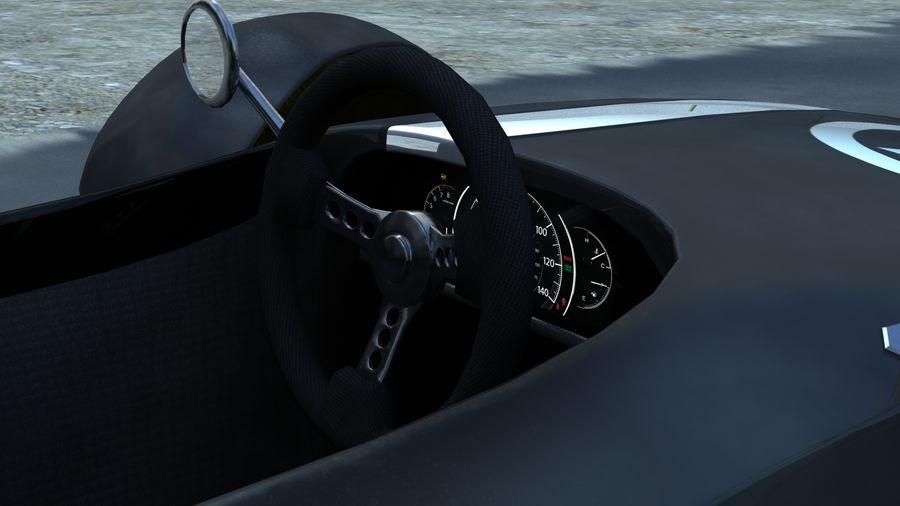 Lenkrad - Retro - Sport royalty-free 3d model - Preview no. 12