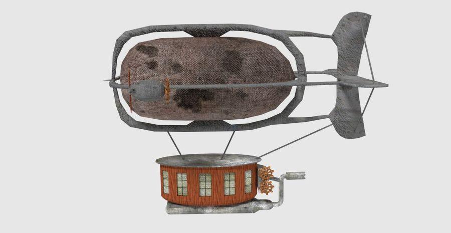 Steampunk Blimp royalty-free 3d model - Preview no. 2