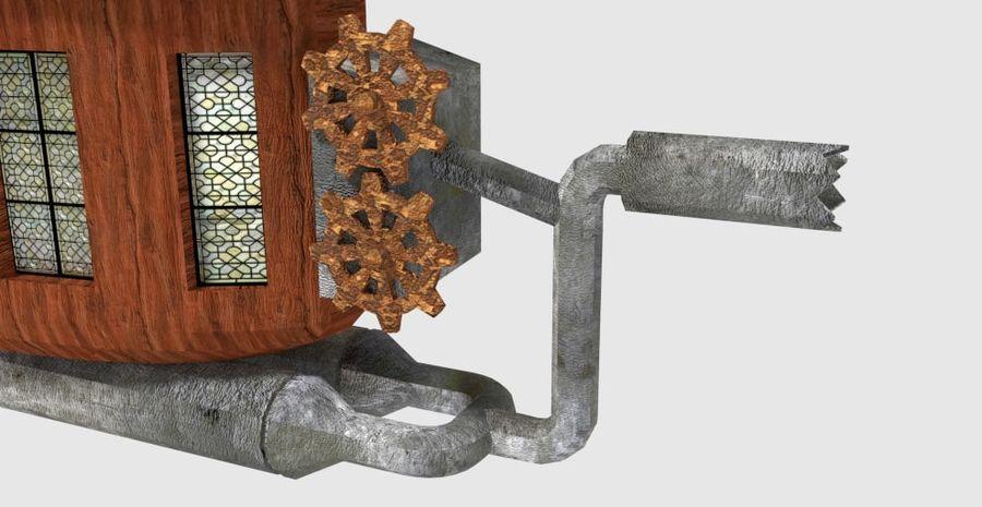 Steampunk Blimp royalty-free 3d model - Preview no. 7