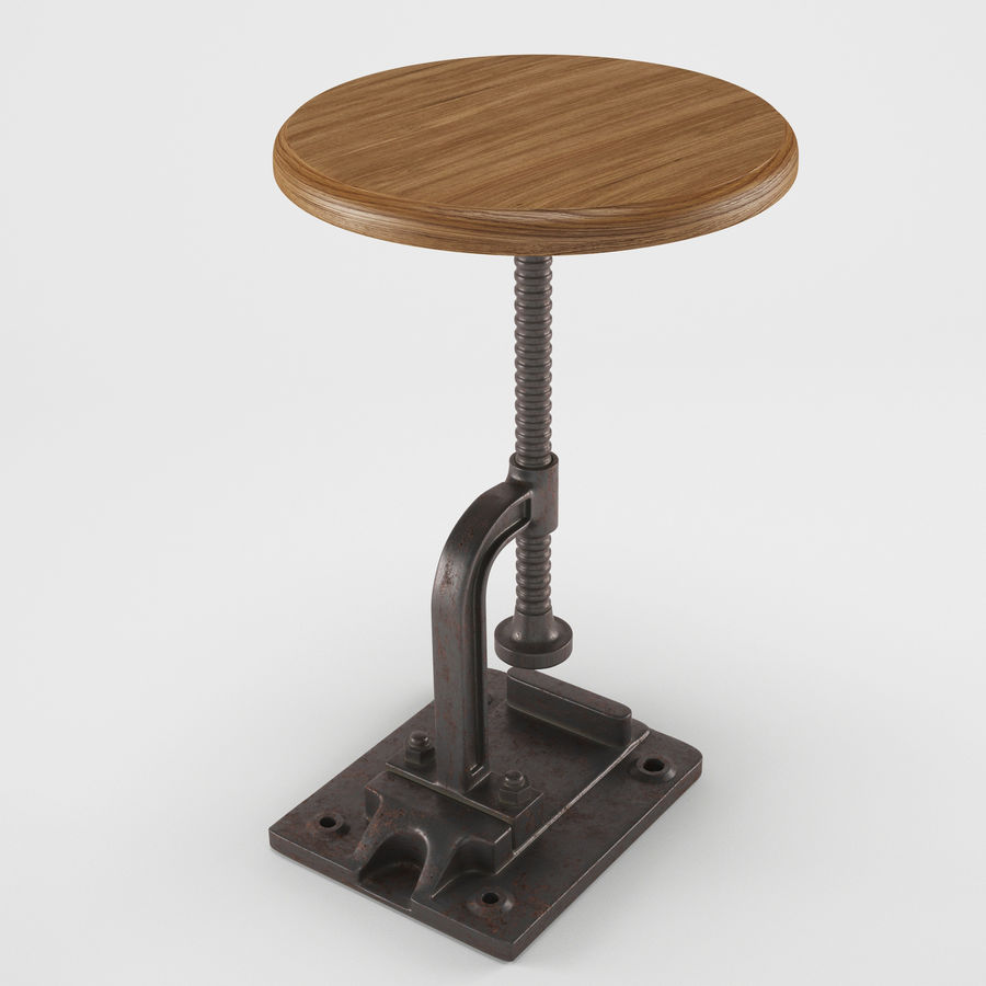 Tabouret Industriel royalty-free 3d model - Preview no. 2