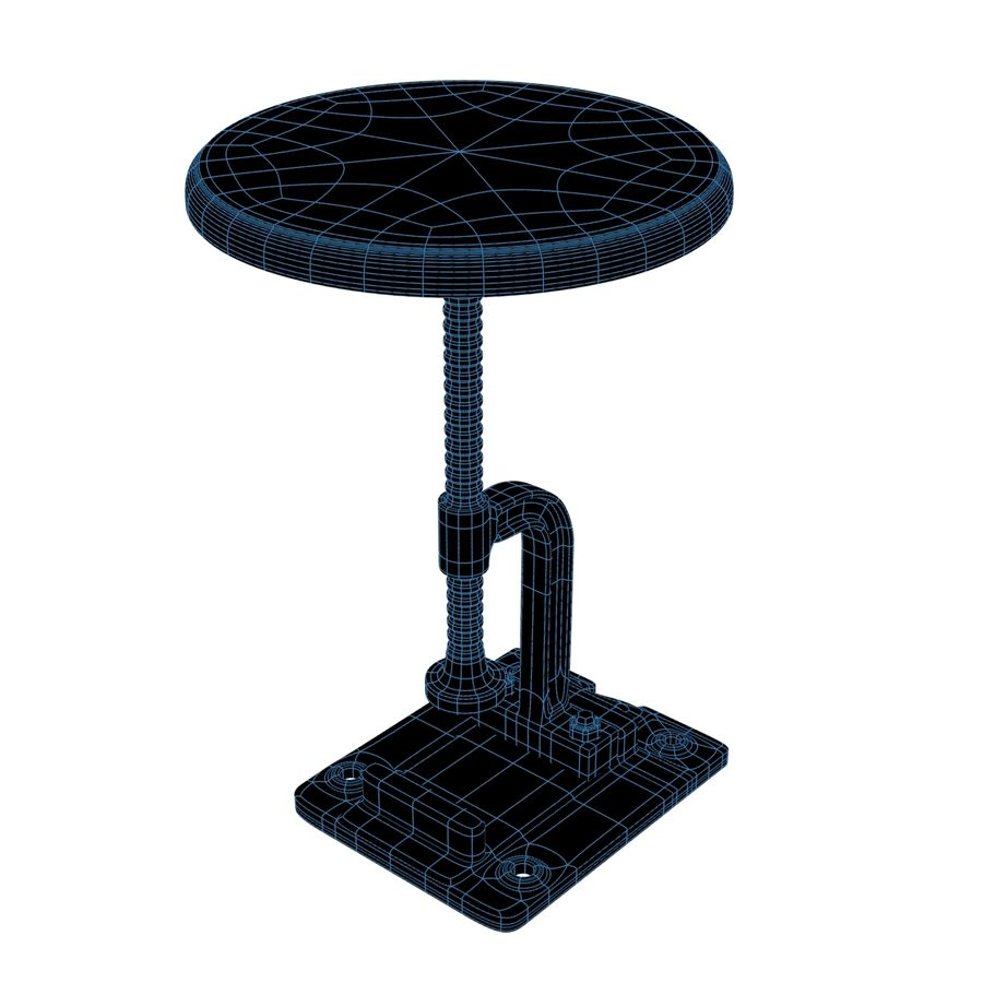 Tabouret Industriel royalty-free 3d model - Preview no. 4