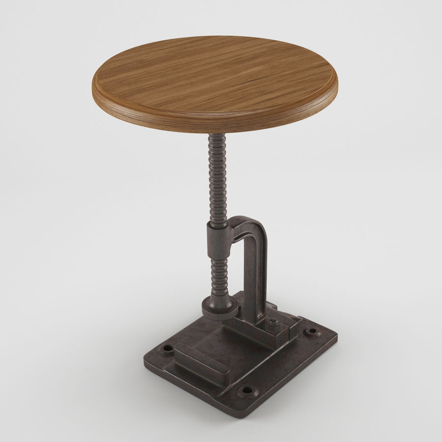 Tabouret Industriel royalty-free 3d model - Preview no. 1