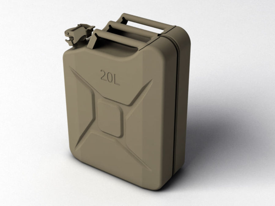 Jerry Can royalty-free 3d model - Preview no. 2