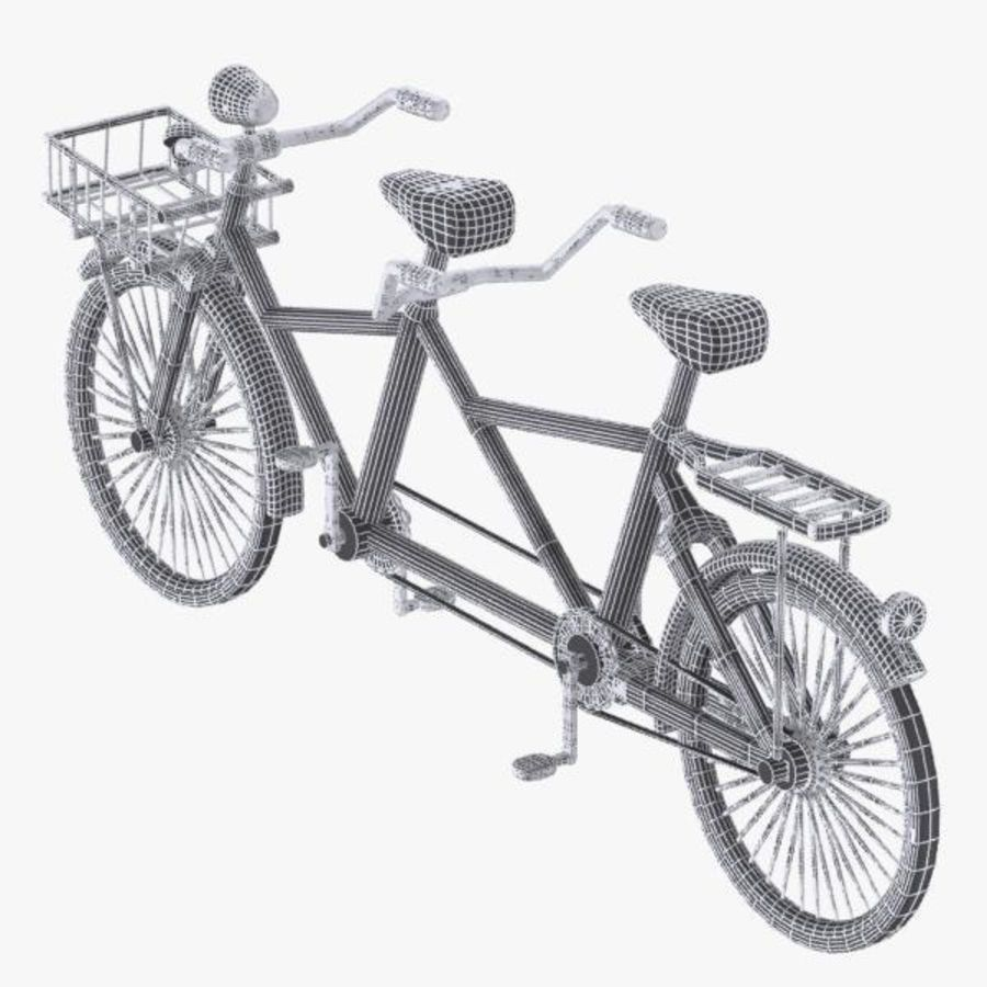 Cartoon Tandem Bicycle royalty-free 3d model - Preview no. 12