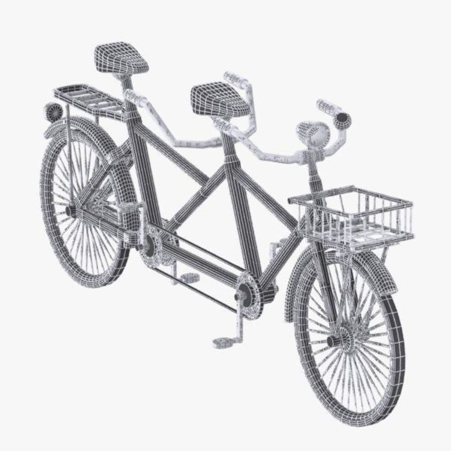 Cartoon Tandem Bicycle royalty-free 3d model - Preview no. 11