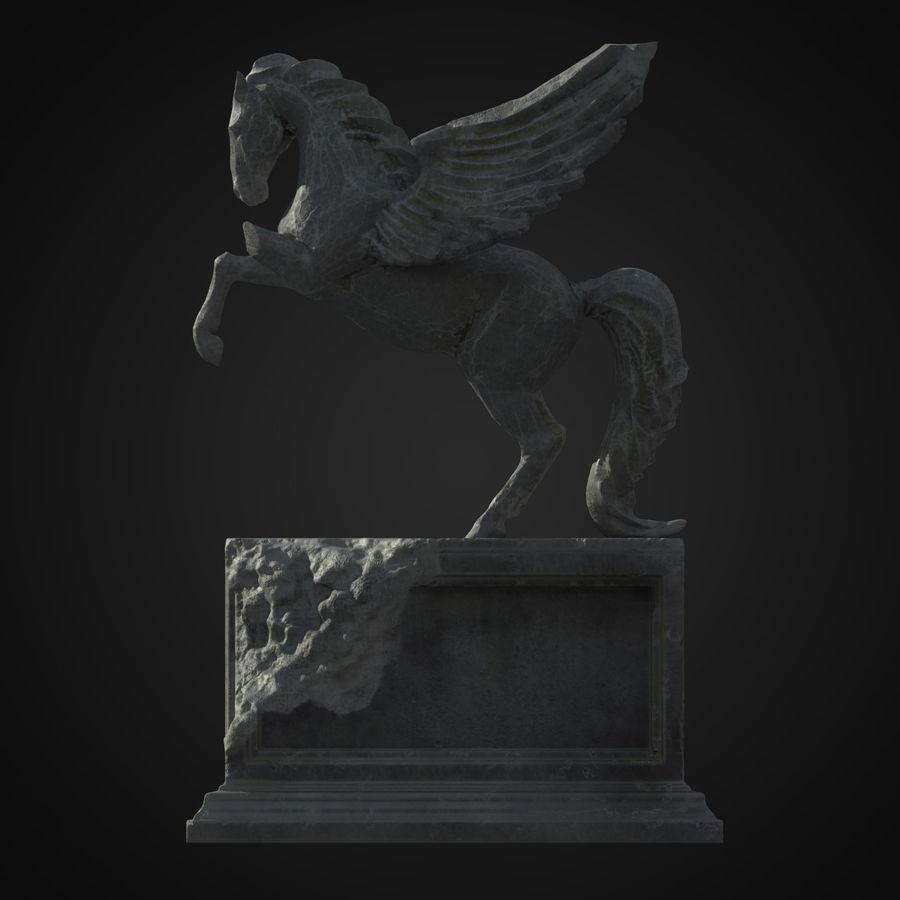Ruin Statue Pegasus royalty-free 3d model - Preview no. 1