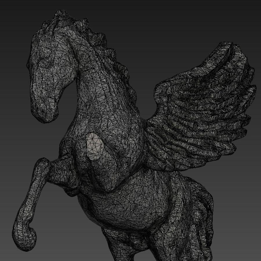Ruin Statue Pegasus royalty-free 3d model - Preview no. 9