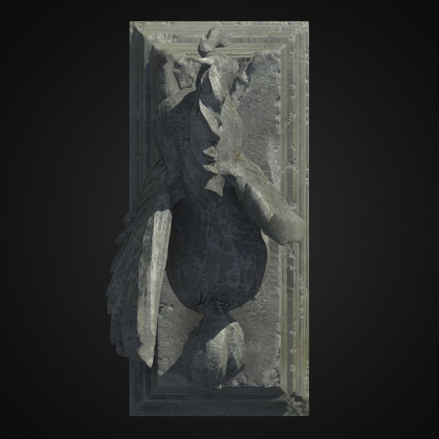 Ruin Statue Pegasus royalty-free 3d model - Preview no. 3