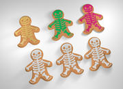 Halloween Gingerbread Man 3d model