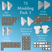75 몰딩 팩 3 3d model