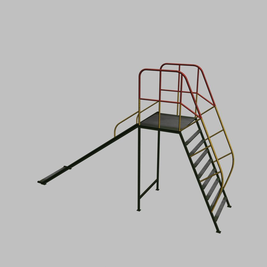Kinderglijbaan royalty-free 3d model - Preview no. 3