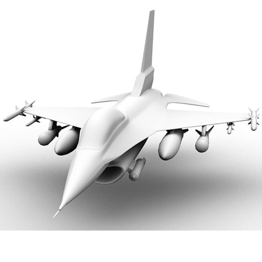 F16戦闘機 royalty-free 3d model - Preview no. 1