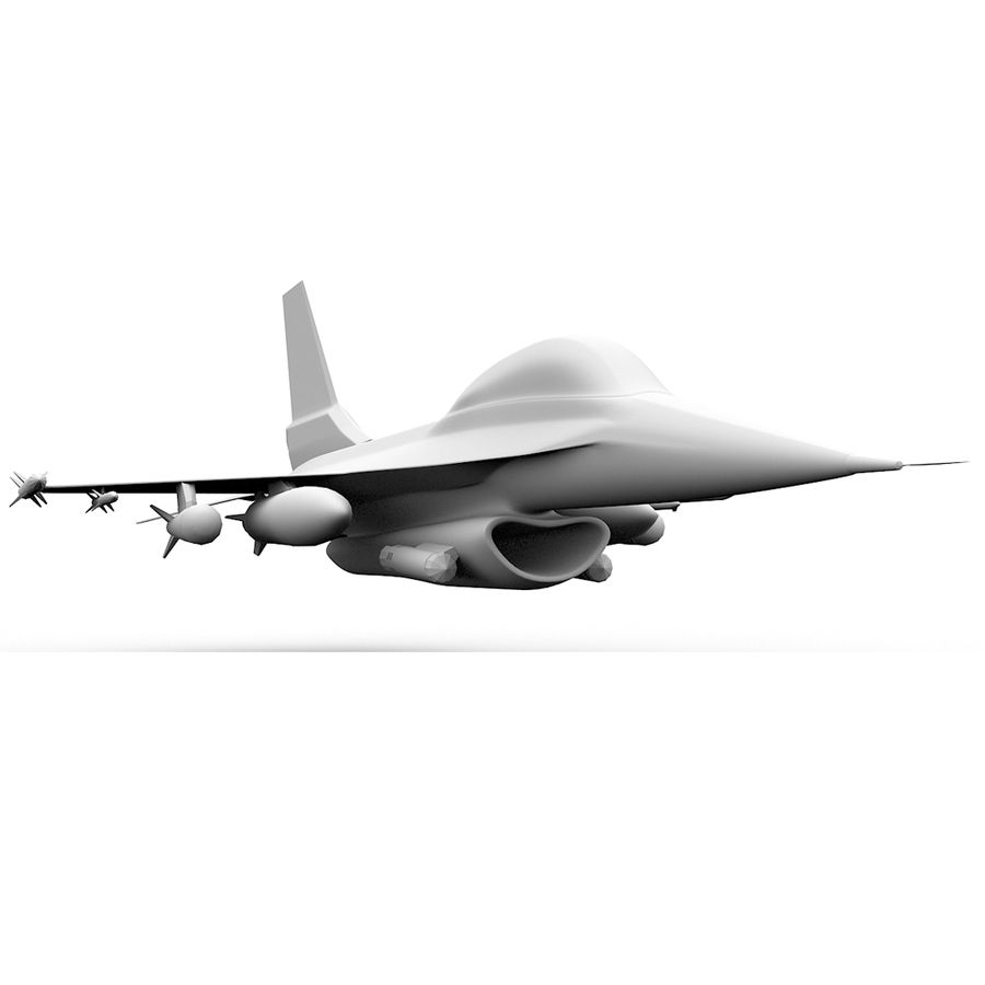F16戦闘機 royalty-free 3d model - Preview no. 2
