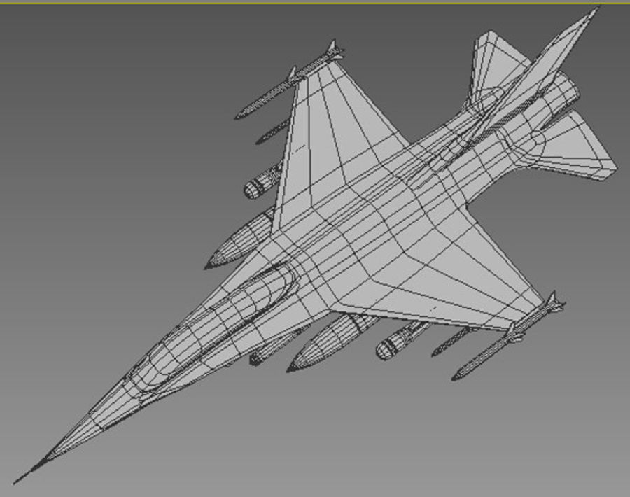F16戦闘機 royalty-free 3d model - Preview no. 9