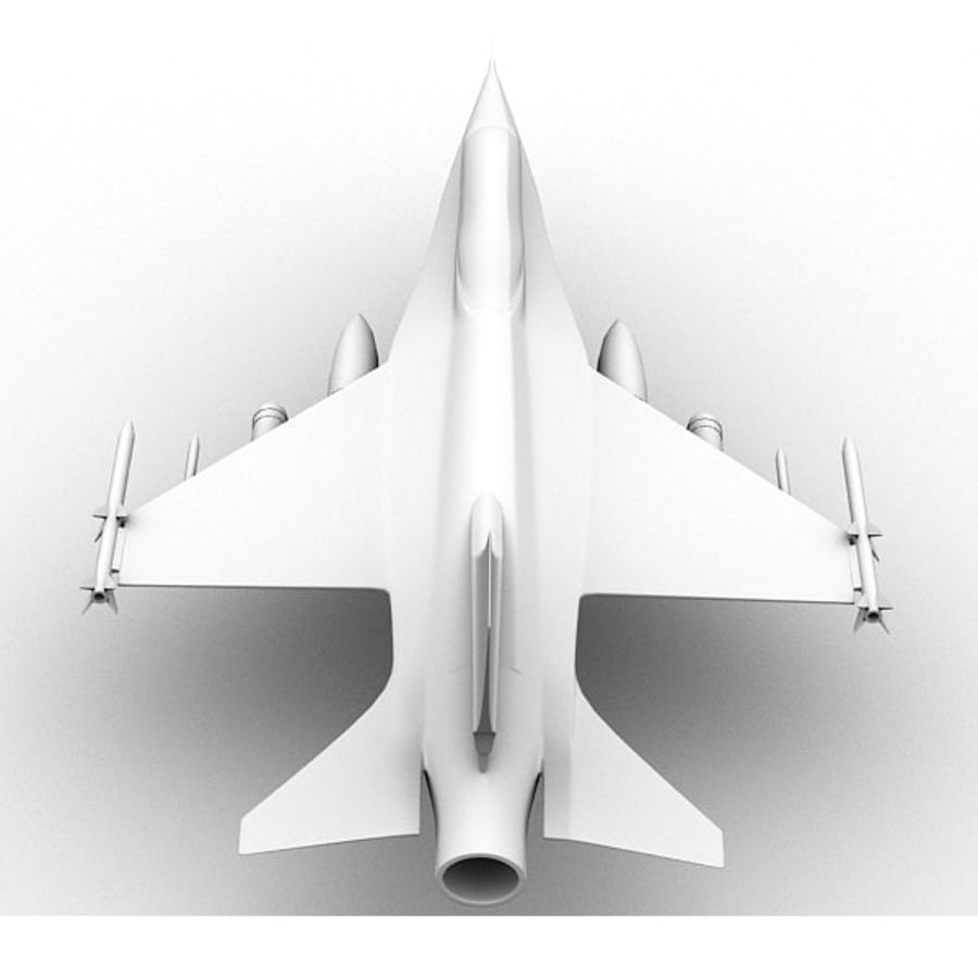 F16戦闘機 royalty-free 3d model - Preview no. 8