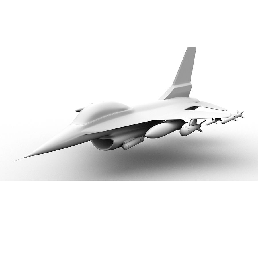 F16戦闘機 royalty-free 3d model - Preview no. 5