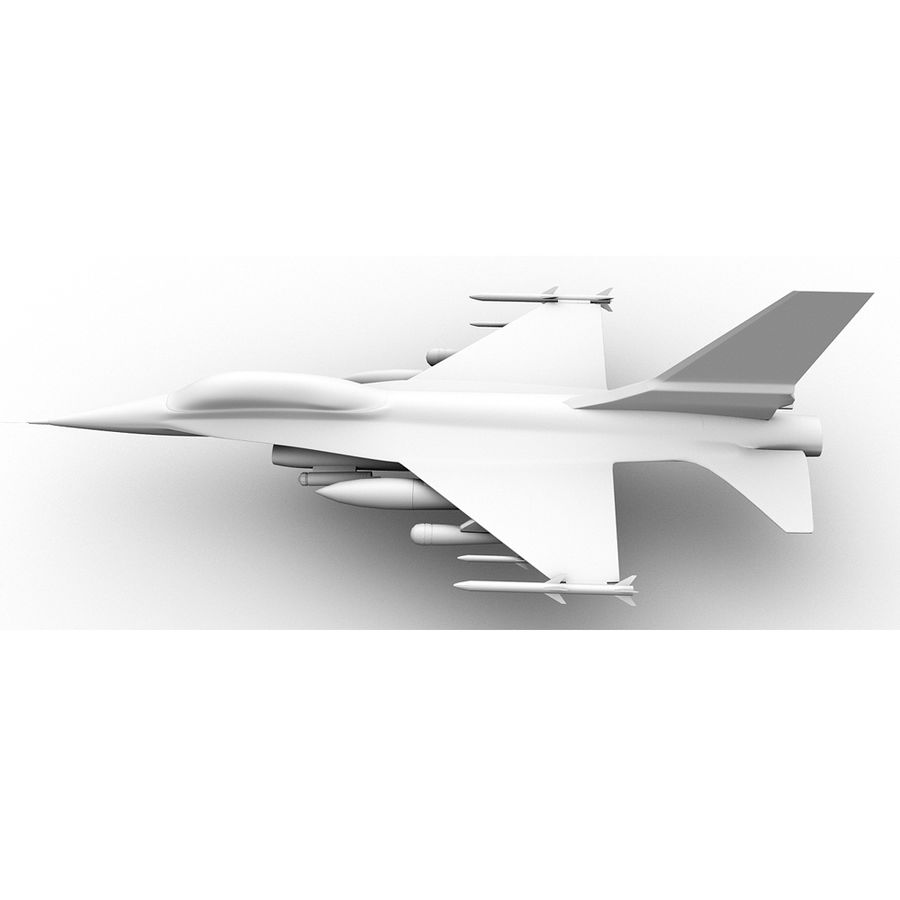 F16戦闘機 royalty-free 3d model - Preview no. 3
