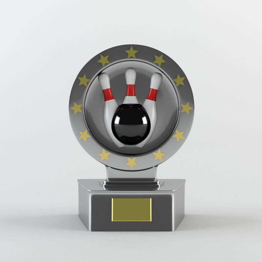 Trophy - Award Cup royalty-free 3d model - Preview no. 3
