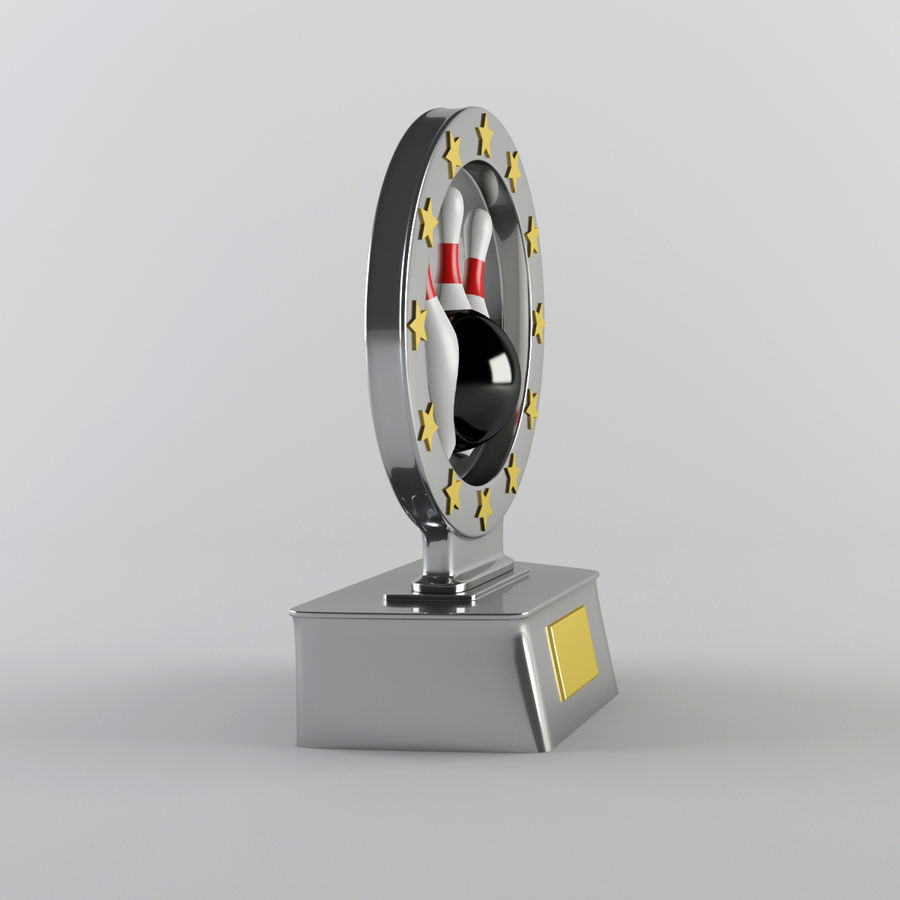 Trophy - Award Cup royalty-free 3d model - Preview no. 4