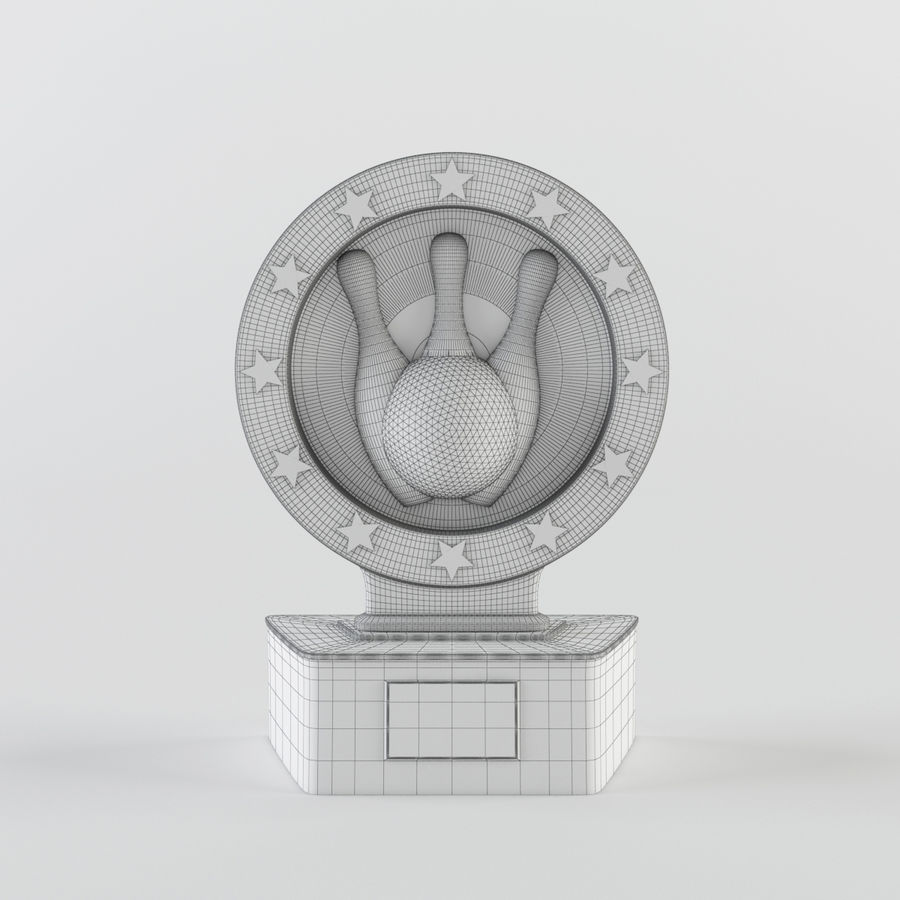 Trophy - Award Cup royalty-free 3d model - Preview no. 6