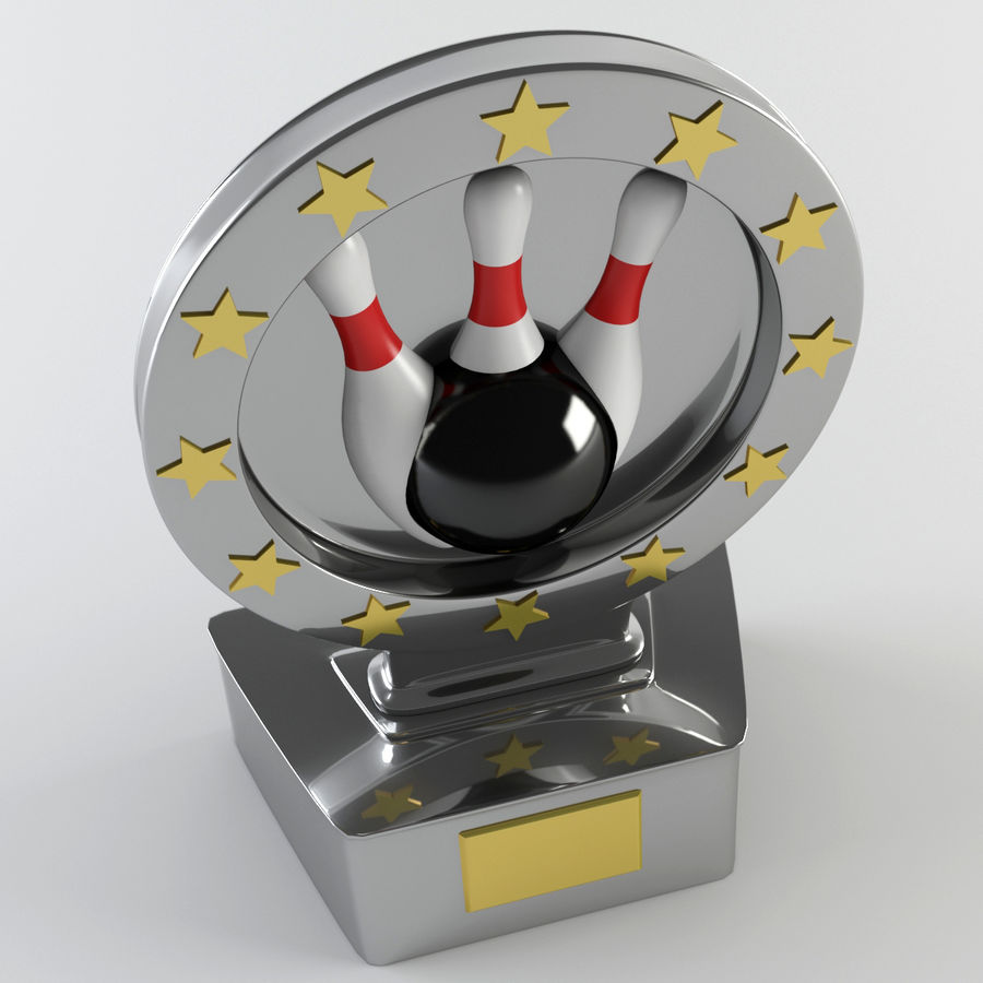 Trophy - Award Cup royalty-free 3d model - Preview no. 2
