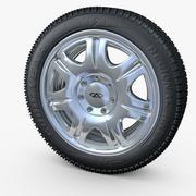 Wheel with hidden fastening bolts 3d model