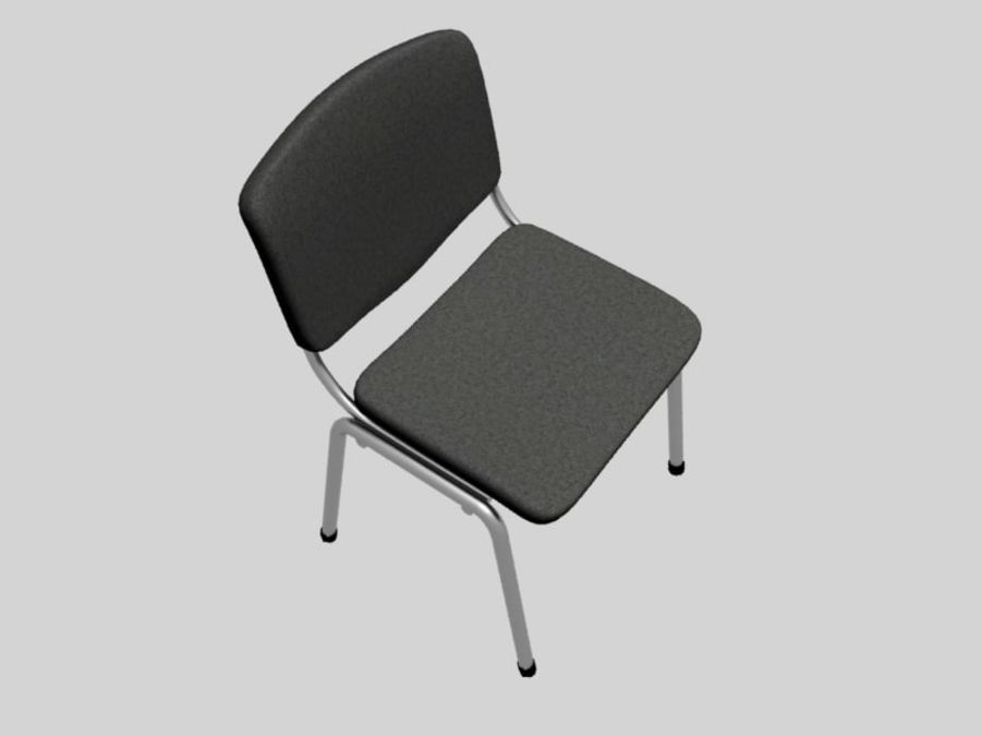Office chair royalty-free 3d model - Preview no. 5