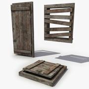 中世纪地板陷阱门 3d model