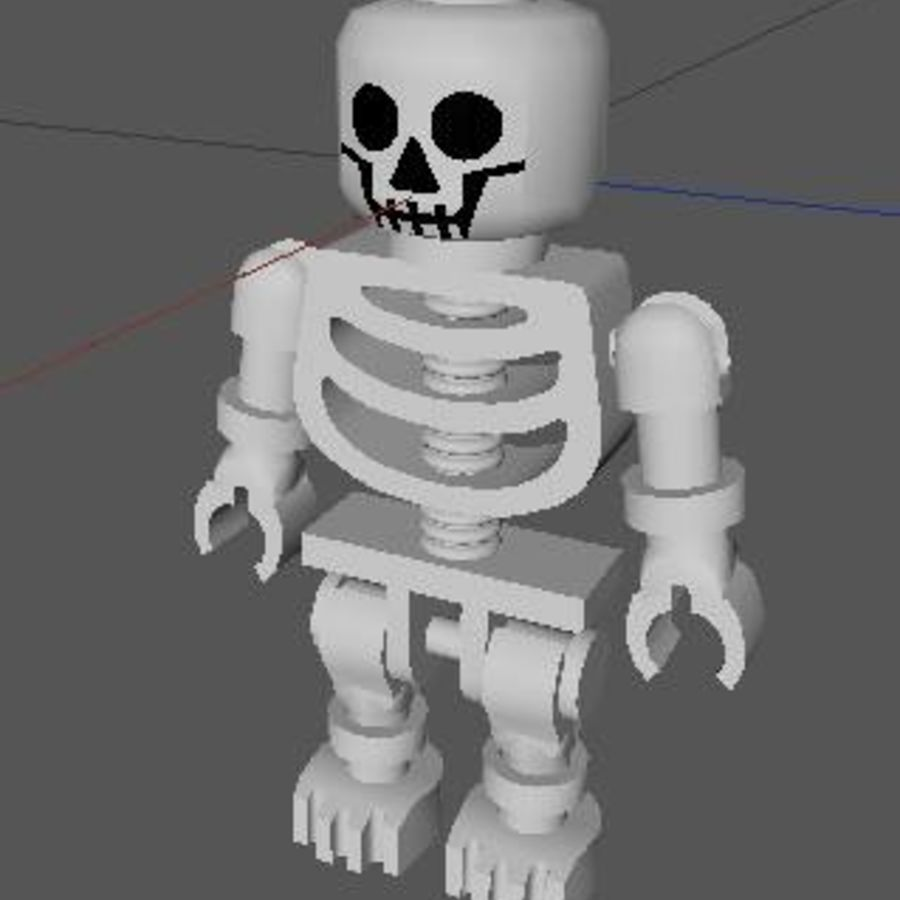 LEGO skeleton royalty-free 3d model - Preview no. 2